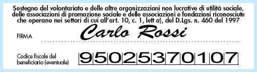 Donazione del 5 x mille alla Fondazione San Marcellino Onlus, Genova