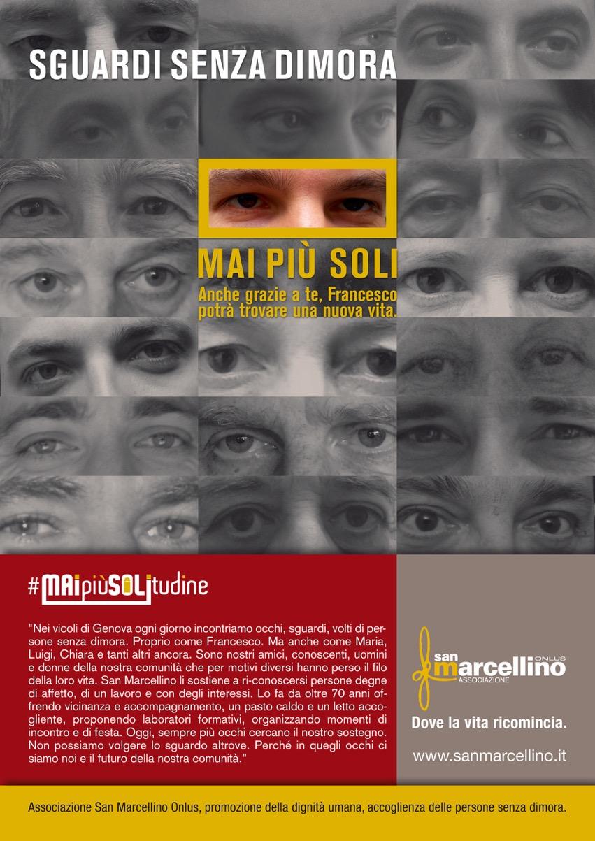 Campagna Mai più solitudine, Associazione San Marcellino Onlus, Genova